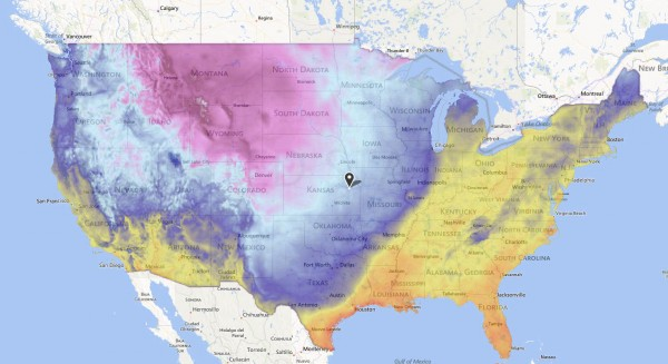 Cold weather is prevalent throughout the US.