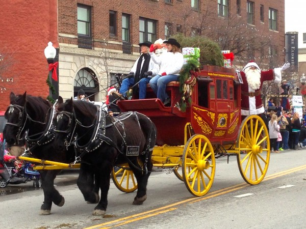 Final carriage had Santa on it.