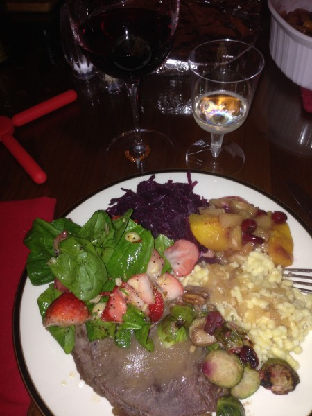 Dinner last night at Trudi's brother's house was a feast.