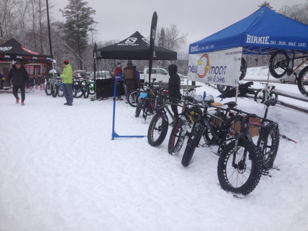 The bike shops were doing a Fatbike demo at OO.