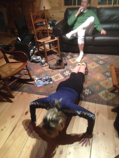 Catherine decided to do 30 pushups at 2 am last night, while Keith was brushing his teeth.