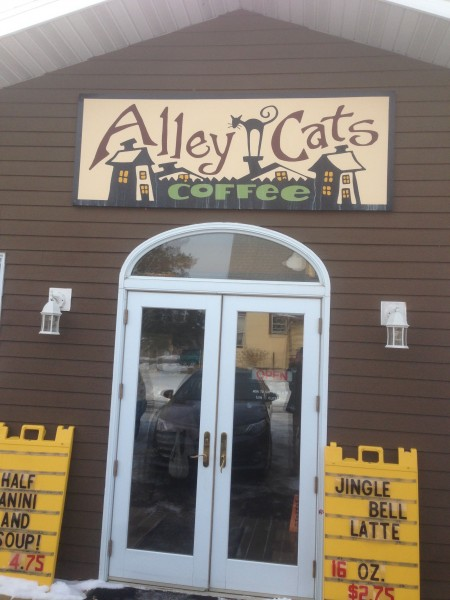 Alley Cats, my all time favorite coffeshop, in Spooner, Wisconsin.
