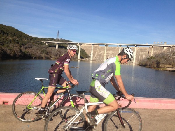 Out on the low water crossing by Lake Travis on 620.