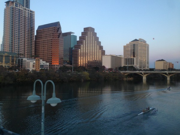 Riding back towards Austin.