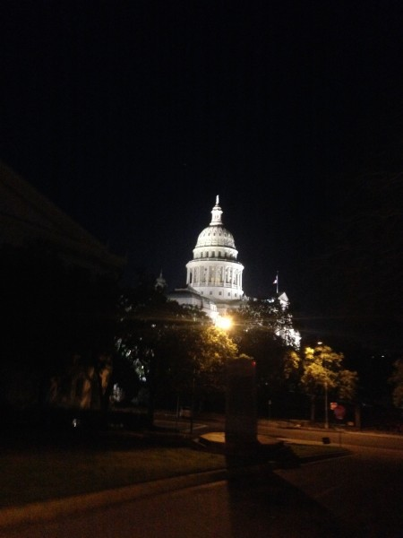 It was dark by the time I got by the Capitol.