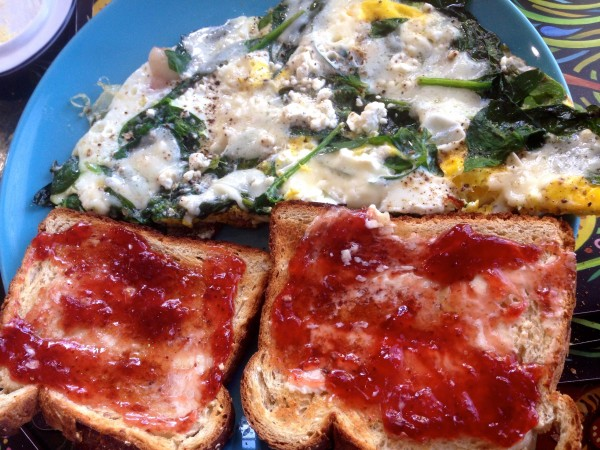 Vincent makes me a crazy great breakfast every morning.