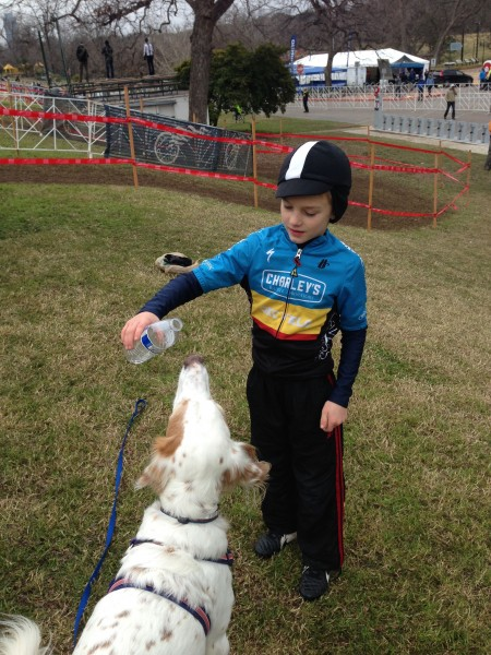 While I was out riding, Bromont was playing at the course with his new friend, Nehemiah, from Enid Oklahoman.