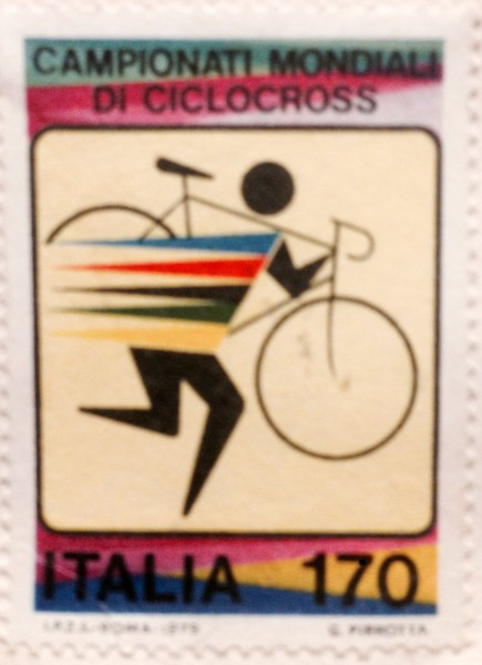 I found this stamp yesterday, laying around the house.  It is from the 1979 Cyclocross World Championships in Italy.