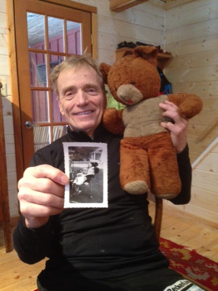 Here's a picture that Keith took of Dennis with a bear that his father got for him on his birthday in Paris at the end of World War 2.