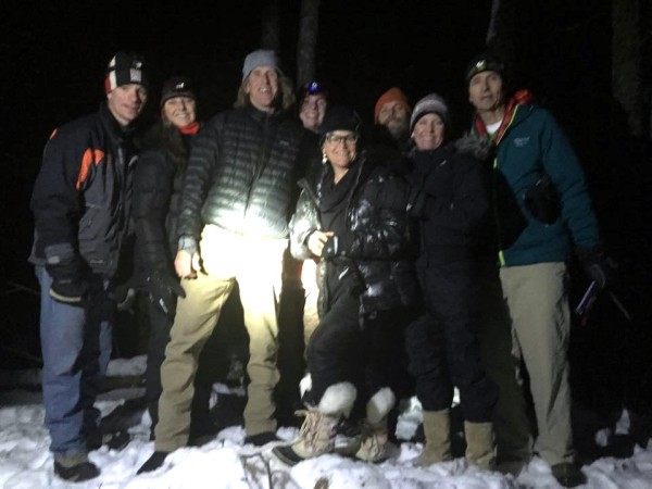 The gang at midnight up on the Hemlock Ridge.