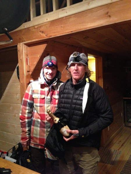 Me and Parker about ready to head out last night for the New Year's hike.