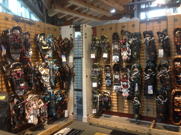 These are just some of the snowshoes.  They had a whole other wall.