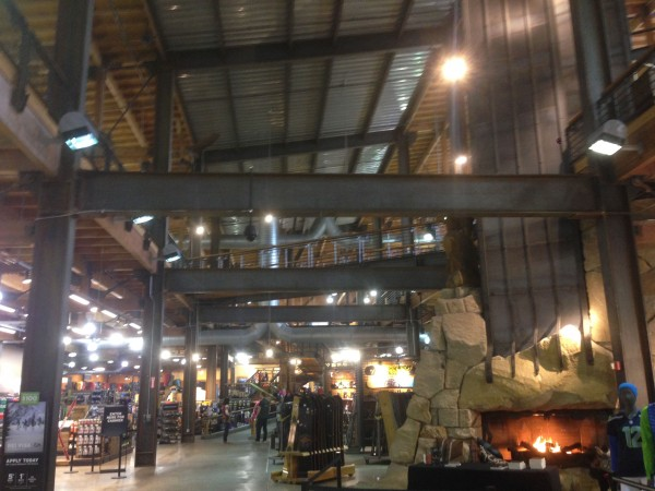We walked by the biggest REI store in the world.  I guess their corporate flagship store.  It was enormous.