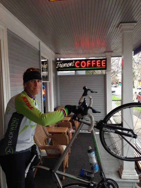 We started the ride yesterday over at Fremont at the Fremont Coffee Company.  Very good coffee.