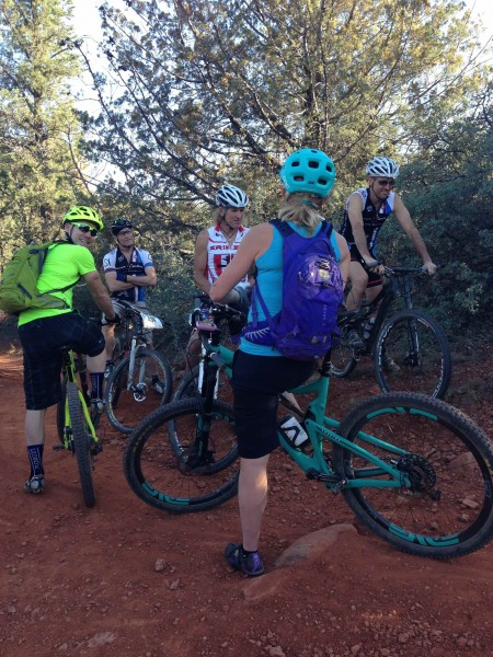 Meeting up with Tim and Sue Butler out riding in Sedona.