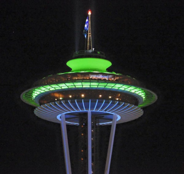 This is a photo that Keith Walberg took of the Space Needle a couple days ago.
