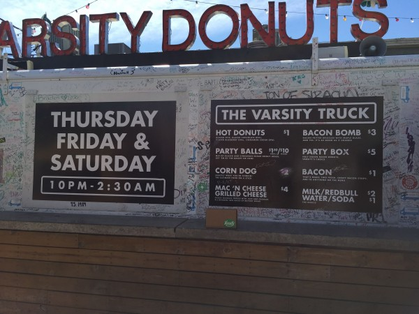The weekend offerings from the donut shop in Aggieville, K-State.