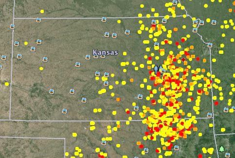 Topeka was the epicenter of burning, of the whole US, on Saturday.