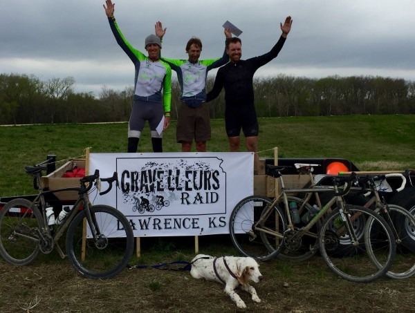 Podium from yesterday's Gravelleur's Raid 100 mile gravel race.