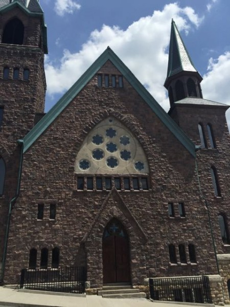 There are lots of beautiful churches in downtown Burlington.