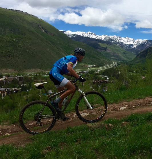 Nice photo Stacie took of me heading up the mountain in Vail.