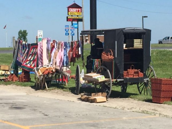 "I saw these Amish women selling things when I stopped for gas in Iowa.  I would have went over and ""shopped"", but was in a hurry.  I need to slow down some."