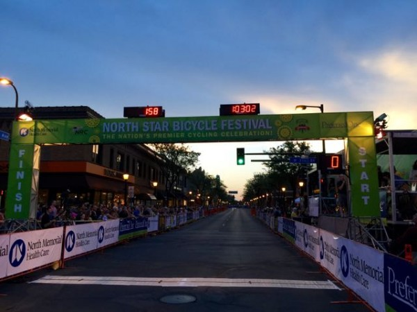 It was nearly dark by the times the Pro stage finished.