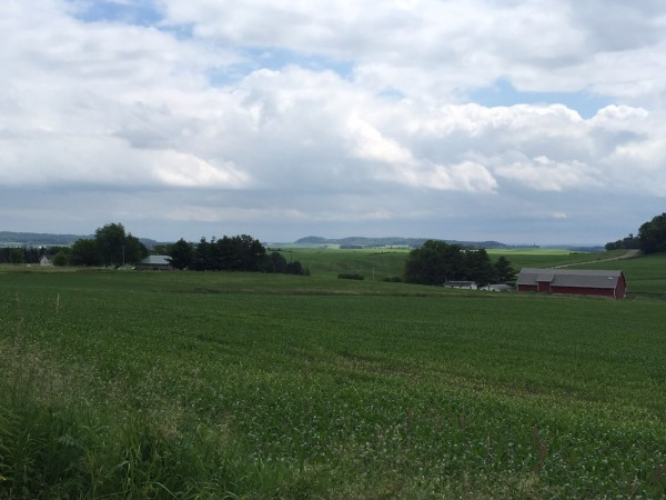 There are miles and miles of beautiful farmland around Menomonie.