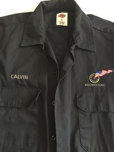 Best gift was one of Calvin's personalized Dickies work shirts.  Too too big on the USA Cycling logo on the other side, but I can overlook that easily.  I'm sure it will make it into the rotation of daily wearers.