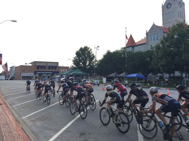 Racing in small towns, around the town square, is super fun.
