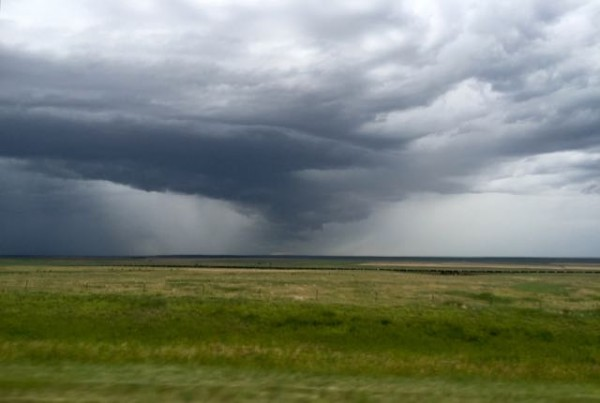The weather on the Eastern plains of Colorado was pretty epic driving out.