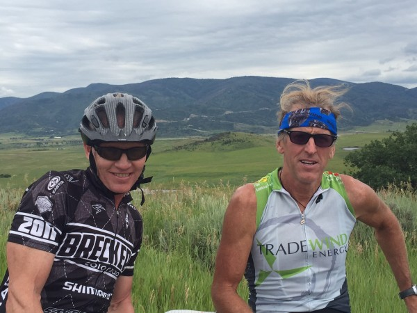 Kent Eriksen and me after the Tour de Steamboat.