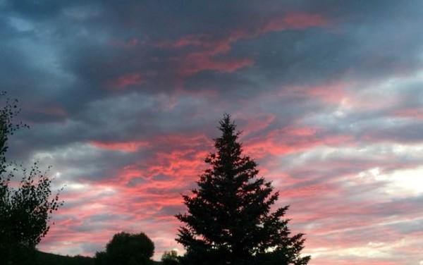 Sunset last night.  It was a blue moon.