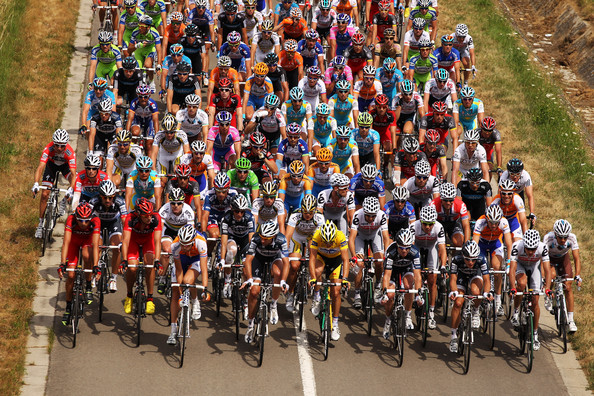 There is obviously only so much road for the peloton to use.