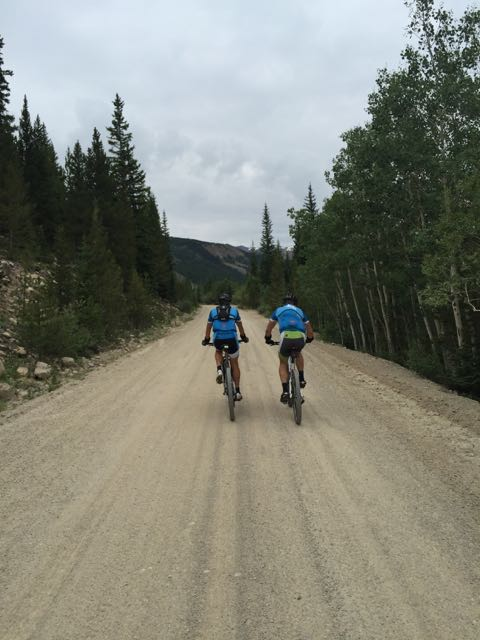 Trent and Brian on one of the gravel roads