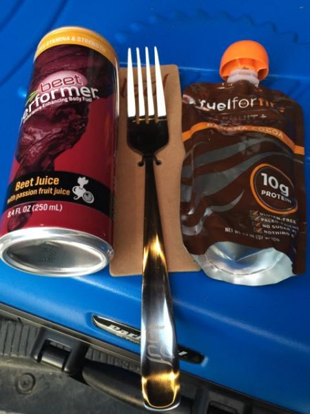 This stuff was in my race bag.  This was, for sure, the first time I've ever received a fork in a bag.