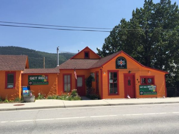 """A pot dispensary in Alma.  It is advertised as something like """"the highest high"""".  I think Alma is the highest, by altitude, incorporated city in the United States."""