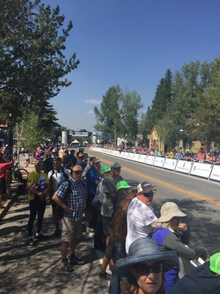 The crowds for the race were just so/so in Breckenridge.  This photo was taken about 30 minutes before the finish.