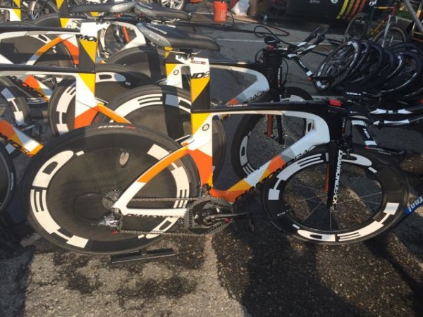 Optum's time trial bikes for today.  It is pretty much a Hed advertisement.  They look pretty fast.