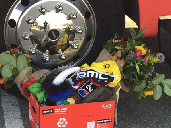 BMC took home nearly all the awards yesterday, finishing 1st and 2nd.  Rohan Dennis is winning all the jersey categories it seems.  I though this box sitting by the BMC bus was interesting.