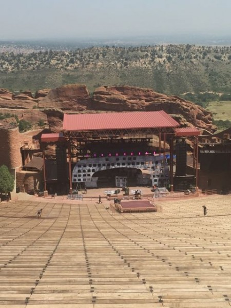 The Red Rocks amphitheater.