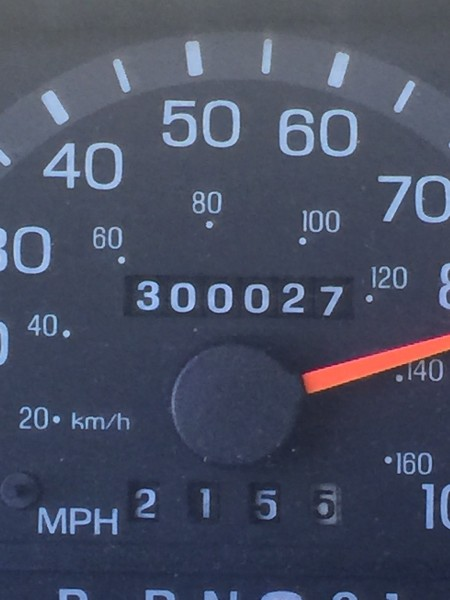 The van turned over 300,000 miles driving back from Arvada on Friday.