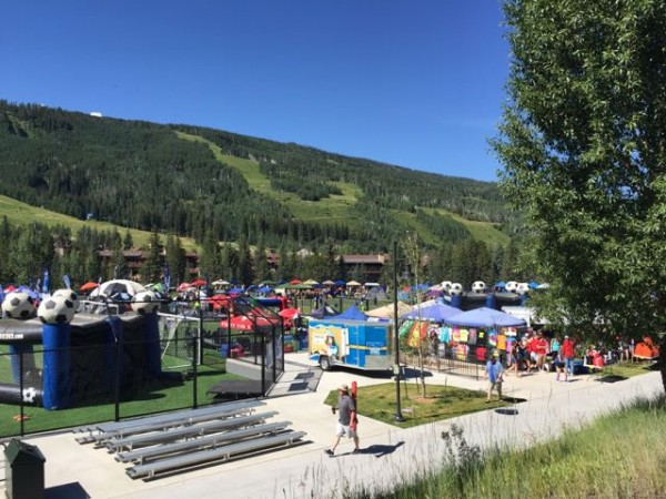 There was a soccer tournament going on in Vail at the Ford Park.