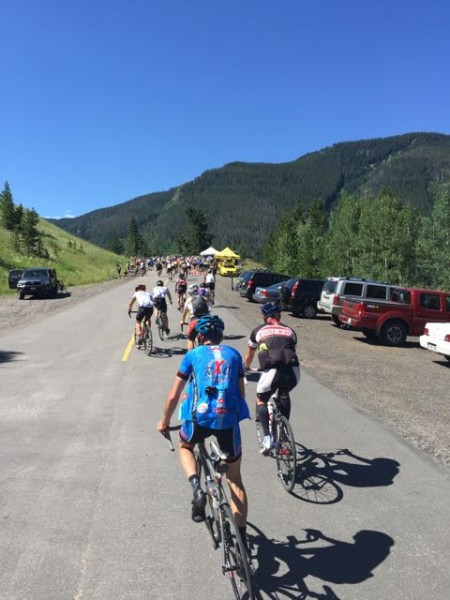 And starting up Vail Pass.  Pretty much a log jam at the bottom, with a sag stop there.