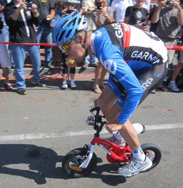 I'm sure he will still be welcomed back at Levis' Granfondo this year.  He is such a crowd pleaser.