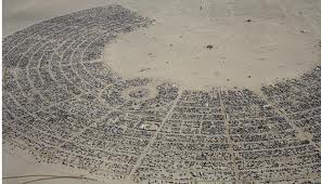 The Burning Man city looks incredible from above.