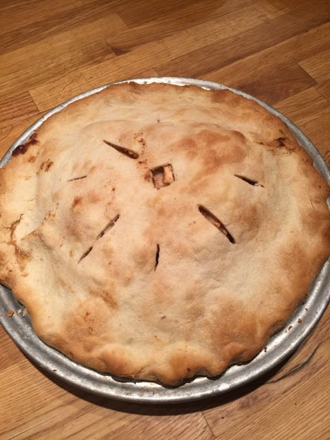 Finished pie last night.