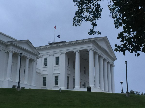 The Virginia State Capitol building.