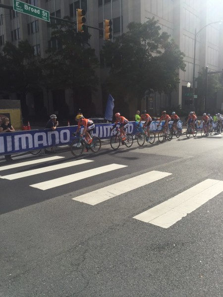 I think this was either the full 1st lap or 2nd lap of the race. There were 16 laps. The whole Dutch team at the front riding. For who or what?
