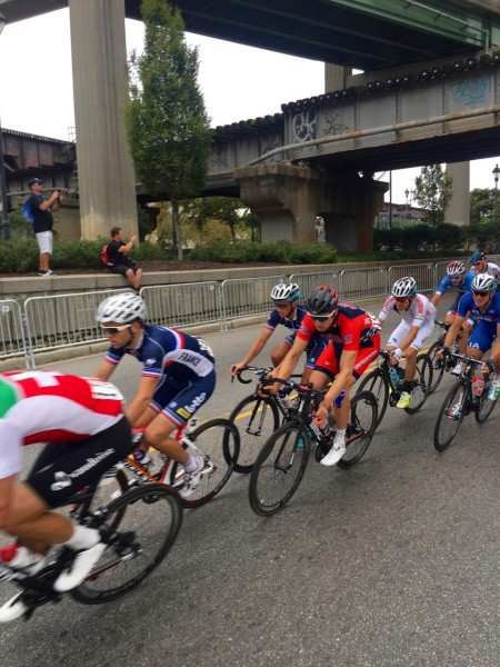 Taylor Phinney looking concentrated.